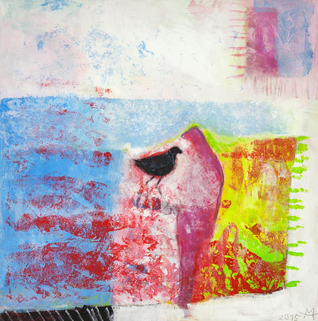 Black bird, Acryl